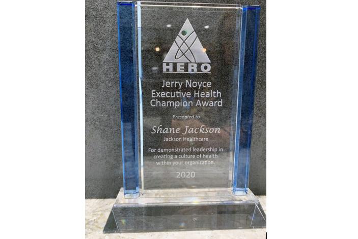 Shane Jackson of Jackson Healthcare Receives Jerry Noyce Executive Health Champion Award