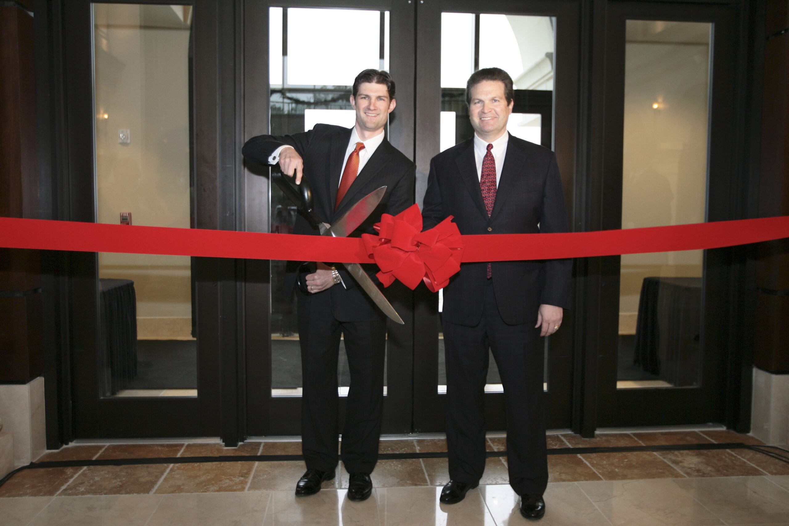 Jackson Healthcare executives at ribbon cutting ceremony