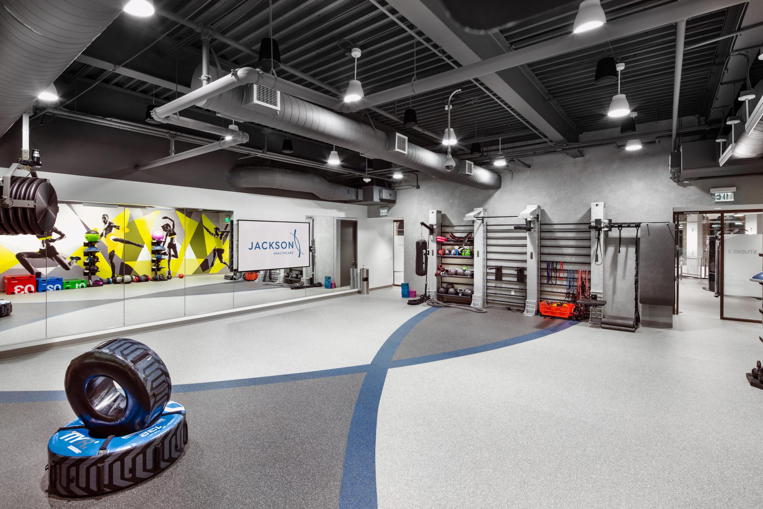 empty fitness studio