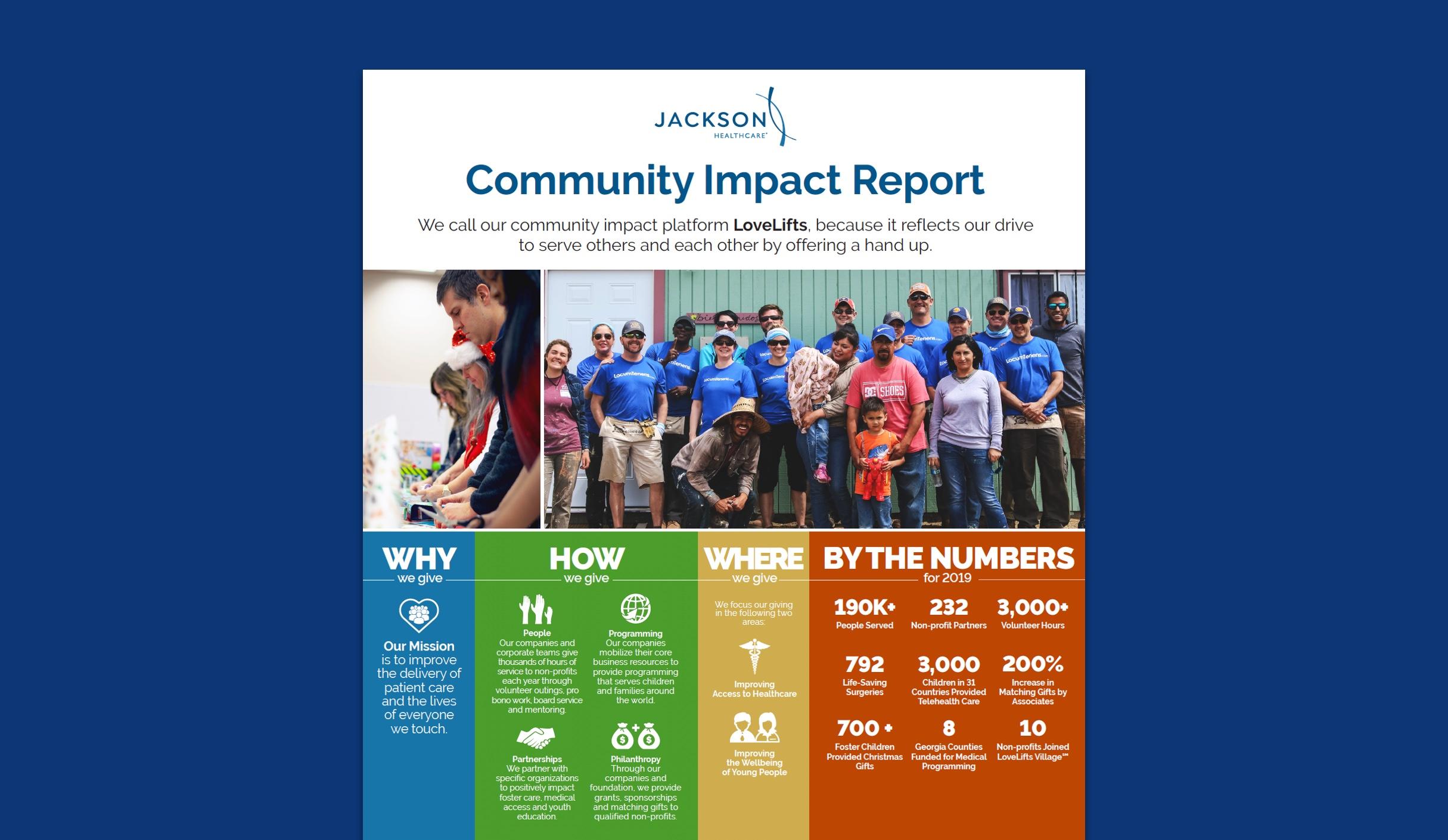Jackson Healthcare community impact report