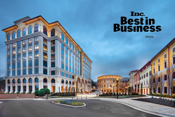 Jackson Healthcare campus with Inc. Best in Business logo